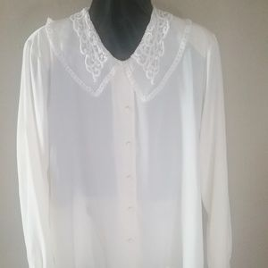 Claudia Richard cream colored blouse